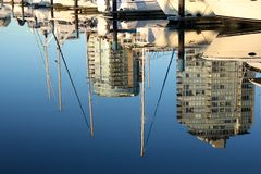 False Creek Reflection, Vancouver Royalty Free Stock Photo
