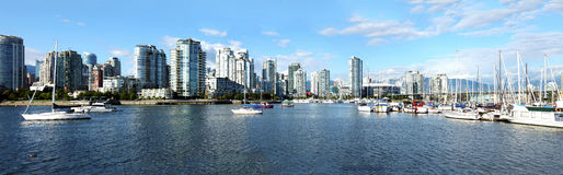 False Creek and south Vancouver BC., panorama. Stock Photography