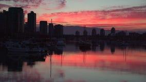 False Creek Sunrise Reflection, 4K UHD stock video footage