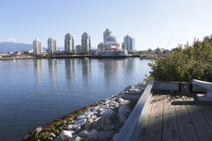 False Creek, Vancouver. Looking east on the south side of False Creek in downtown Vancouver Royalty Free Stock Photography