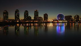 False Creek Winter Twilight Reflections, Vancouver stock footage