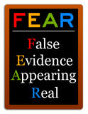 False evidence. Fear defined as false evidence appearing real Stock Images