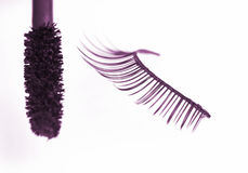 False eyelash and mascara Stock Images