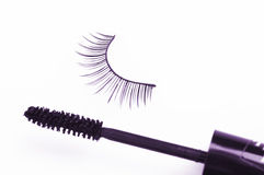 False eyelash and mascara Royalty Free Stock Image