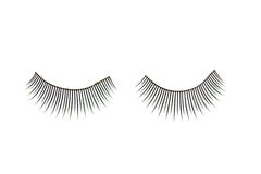 False eyelashes Stock Images
