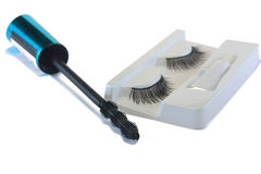 False eyelashes with mascara Stock Image