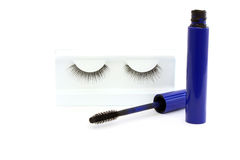 False eyelashes and mascara Stock Photography