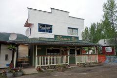 A false-fronted art shop in alaska. Royalty Free Stock Images