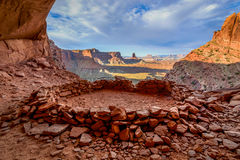 False Kiva. Canyonlands National Park, Moab, UT stock photo