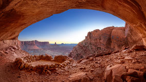False Kiva at Dusk. False Kiva Indian Ruin in, Canyonlands National Park, Utah royalty free stock photos