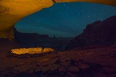 False Kiva at Night with starry sky Stock Image
