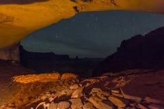 False Kiva at Night with starry sky Stock Photo