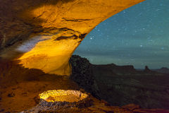 False Kiva at Night with starry sky Royalty Free Stock Photos