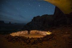 False Kiva at Night with starry sky Royalty Free Stock Photos
