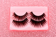 False lashes. On a pink Royalty Free Stock Photos