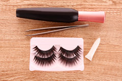False lashes a Stock Photos