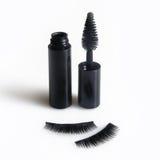 False lashes and black mascara. Isolated on white Stock Photography