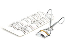 False lashes and curler Royalty Free Stock Photos