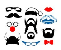 False mustache, funny glasses and other items for Stock Photos