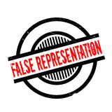 False Representation rubber stamp. Grunge design with dust scratches. Effects can be easily removed for a clean, crisp look. Color is easily changed Stock Photography