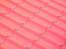 False roof of red tiles Stock Image