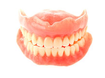 False Teeth Isolated on White Royalty Free Stock Images