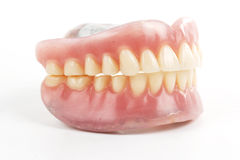 False teeth prosthetic Stock Photo