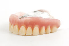 False teeth prosthetic Stock Photos