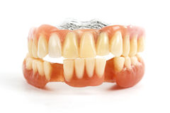 False teeth prosthetic Royalty Free Stock Photo