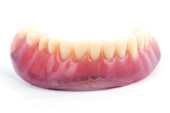 False teeth prosthetic Royalty Free Stock Images
