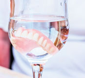 False teeth in water Royalty Free Stock Photo