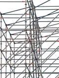 Falsework. Tubular scaffolding on a white background (isolated Stock Photos