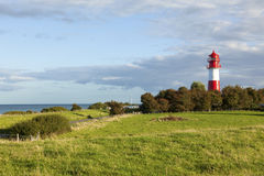 Falshöft lighthouse at Nieby. Lighthouse of Nieby on the Angeln peninsula at the baltic sea coast Royalty Free Stock Images