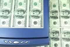 Falsificação do dinheiro Imagens de Stock