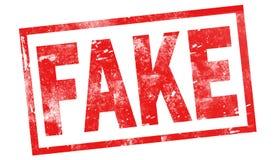 Falsificação no selo vermelho da tinta ilustração stock