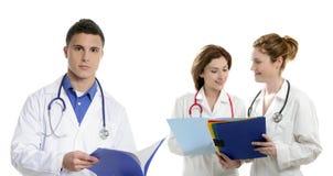 Falsifica il lavoro di squadra, la gente del professionista del settore medico-sanitario fotografia stock
