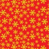 Falsificación amarilla de la nieve en vector rojo Fotos de archivo