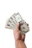 Falsificación cientos cuentas de dólar Imagen de archivo
