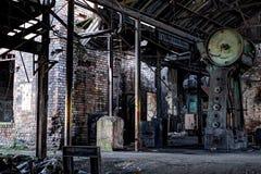 Falsificatori d'acciaio abbandonati Fotografie Stock Libere da Diritti