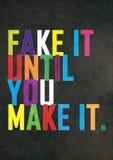 Falsificazione famosa di citazione dell'annata di lerciume finché non lo facciate fotografie stock libere da diritti