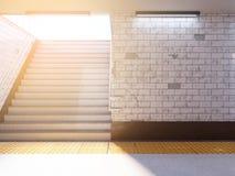 Falsk övre skärm för annonser för affischmassmediamall i gångtunnelstation illustration som 3D framför royaltyfri illustrationer