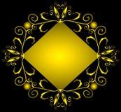 falsk geometrisk guldprydnad för en Royaltyfri Fotografi