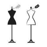 Falsk illustrationvektor för klänning två stock illustrationer