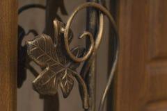 Falsk metallmodell på dörren Arkivbild