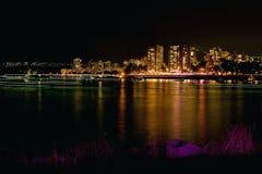 falsk natt vancouver för liten vik Arkivbilder