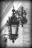 Falsk utomhus- lampa för metall (Peles slottdetaljer) Fotografering för Bildbyråer