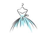 Falsk vektor för illustration för klänninghandteckning royaltyfri illustrationer