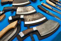 Falska avbrytarknivar arkivbild