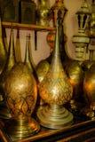 Falska marockanska lampor Arkivbild
