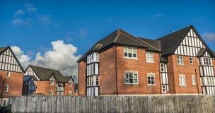 Falska Tudor Houses arkivfoton